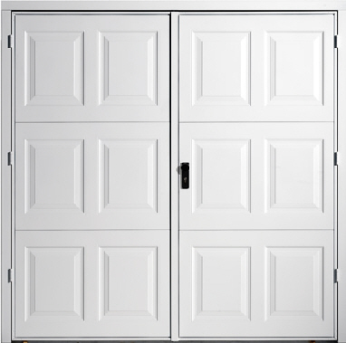 Side hinged garage doors in both traditional and modern for Garage side door and frame
